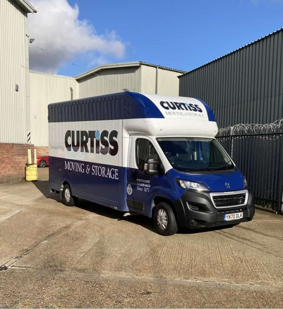 A new blue and white removal van for Curtiss removals
