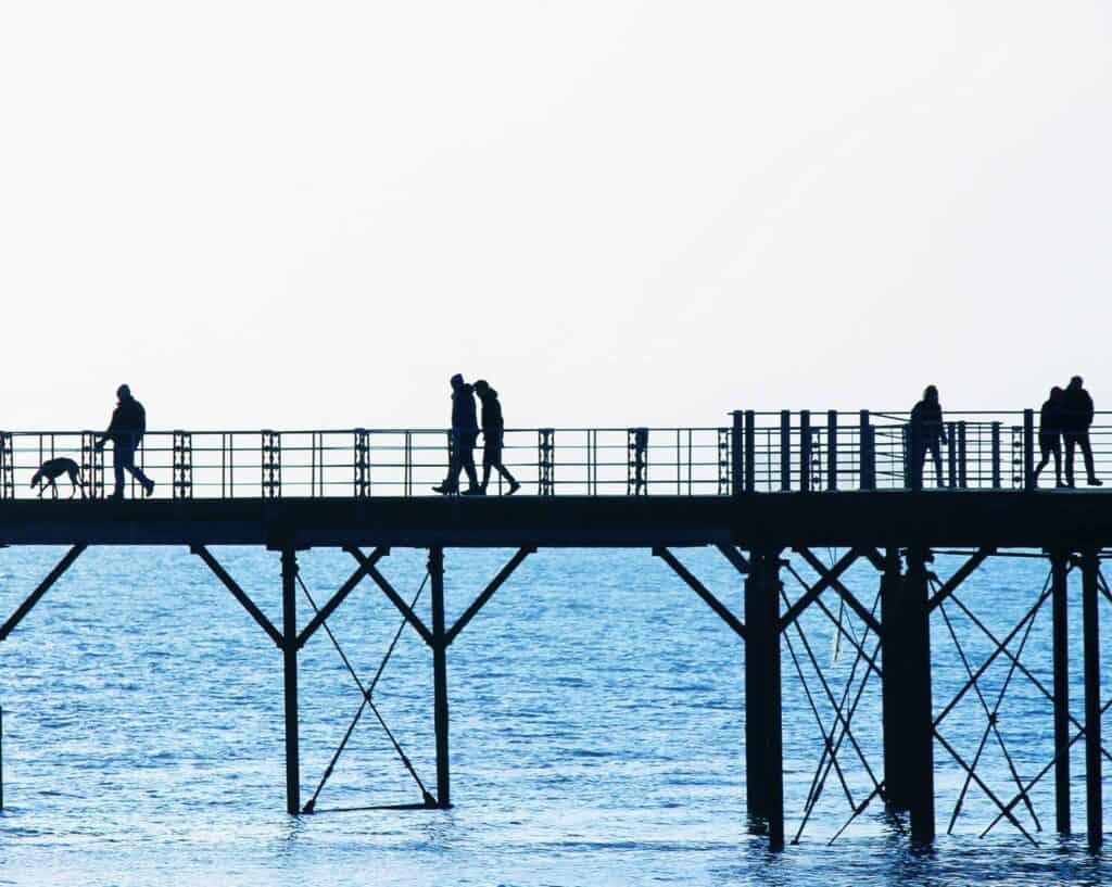 People walking on the Bognor Regis Pier