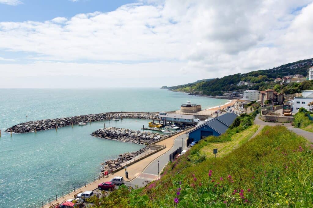 Ventnor town in the Isle Of Wight