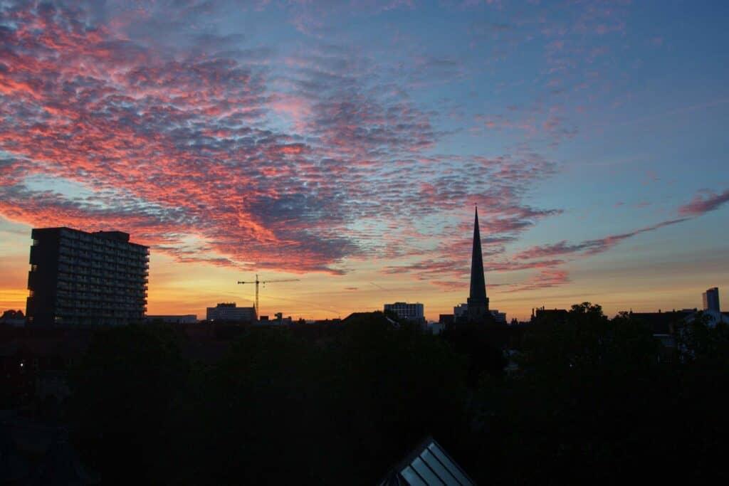 Silhouette of the Southampton city