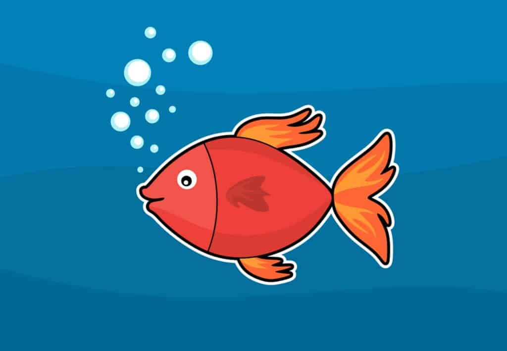 moving with a fish