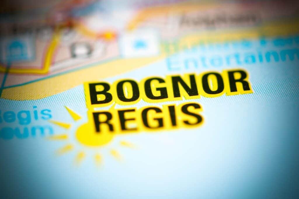Bognor Regis on a map