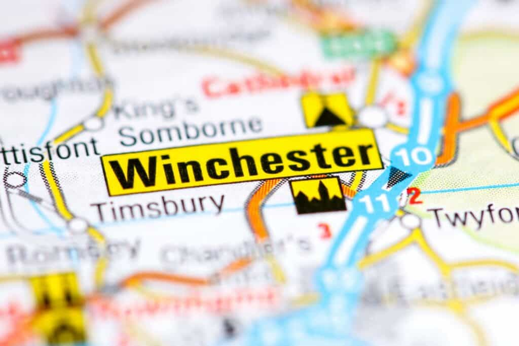 Winchester on Map