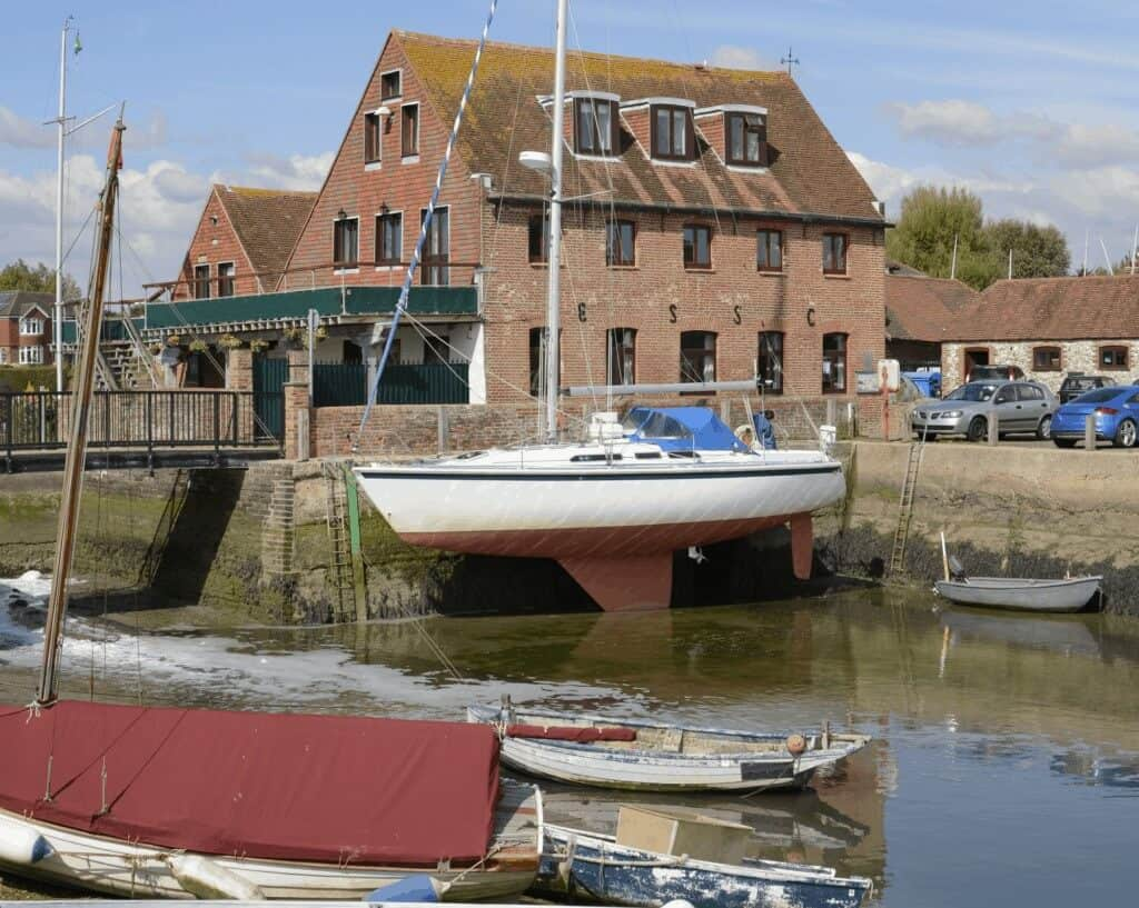 Emsworth marina with boats