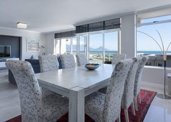 Modern dining table and chairs in the lounge